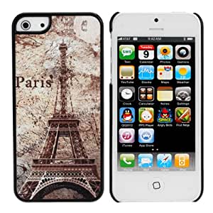 MaxSale Retro Frosted Luxury Paris Tower Pattern Hard Case Cover For iPhone 5