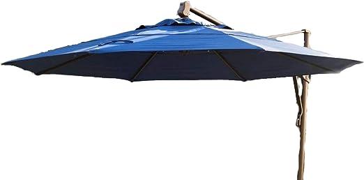 Patio - Paraguas al aire libre, redondo, elevador de manivela ...