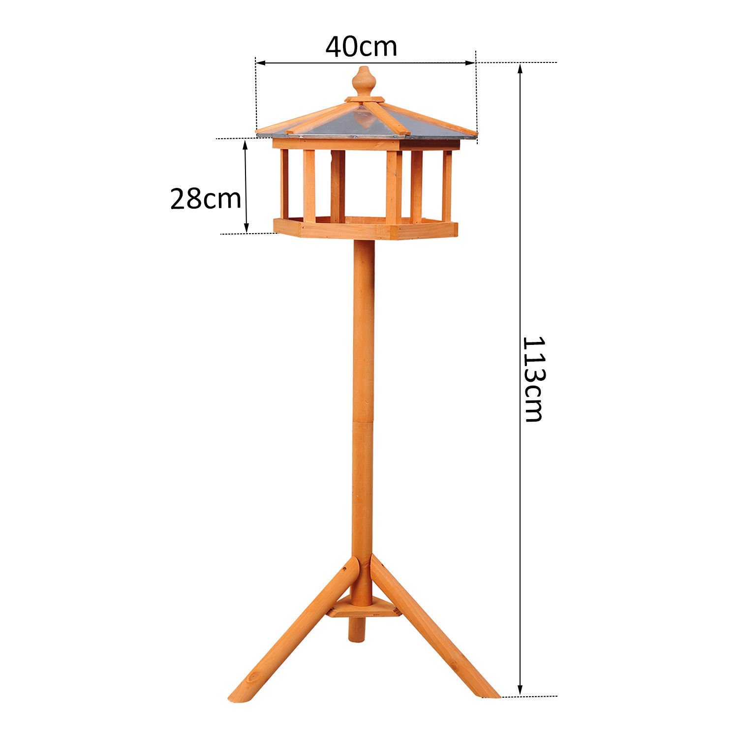 PawHut Deluxe Bird Stand Feeder Table Feeding Station Wooden Garden Wood Coop Parrot Stand 113cm High NEW Sold by MHSTAR PAD3-0006