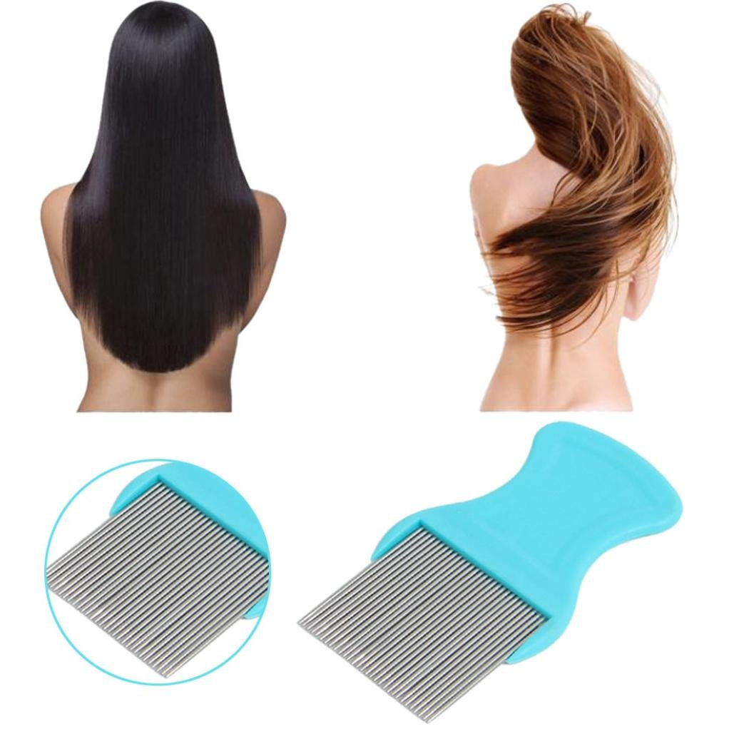 Putars Protable Multifunction Stainless Steel Hair Lice Comb Brushes Terminator Fine Egg Dust Nit Free Removal