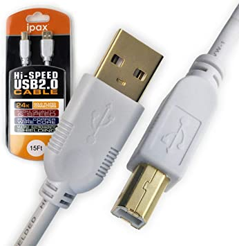 6 ft USB 2.0 Super Fast Transparent Printer Cable A to B