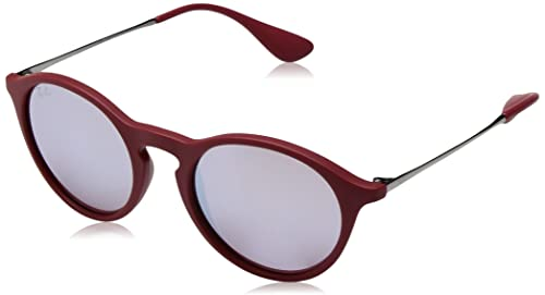 Ray-Ban keyhole youngster rotondi occhiali da sole a bordeaux RB4243 6264B5 49