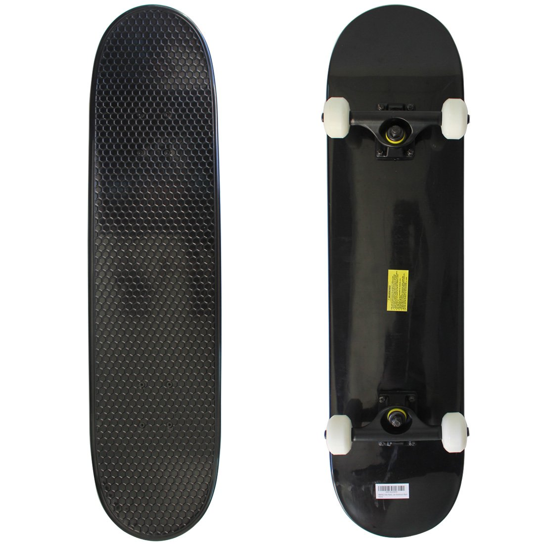 RIMABLE Kids Plastic Complete Skateboard Black