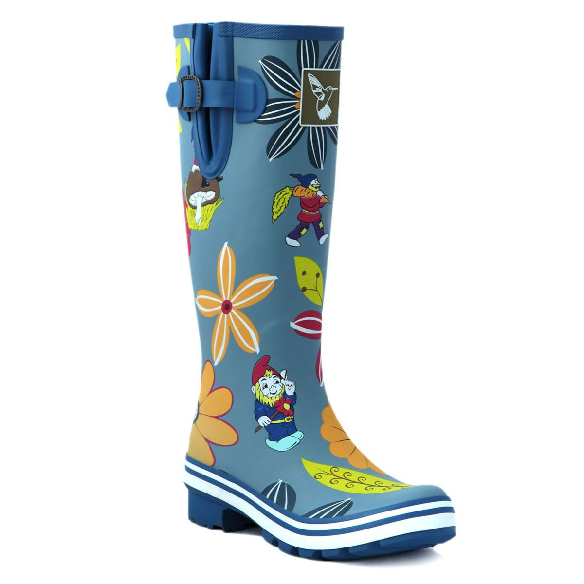 Evercreatures Women's Rain Boots UK Brand Original Tall B00AUDZ1NI Rain Boot Gumboots Wellies B00AUDZ1NI Tall 7 B(M) US / UK5 / EU38|Blue 7f41f7