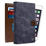 Posh Titan Max HD E600 6.0'' Wallet Case 6.5-Inch Android Phone Phablet Cover Universal, Almost Black Denim