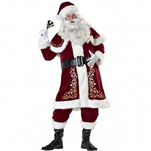 Traje de Cosplay Del Traje de Santa Claus de Los Hombres ...