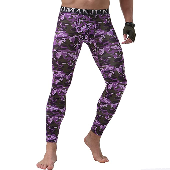 YiLianDa Hombre Modal Pantalones Ropa Interior Térmica Johns Largo Para Hombre Caliente De La Ropa Interior