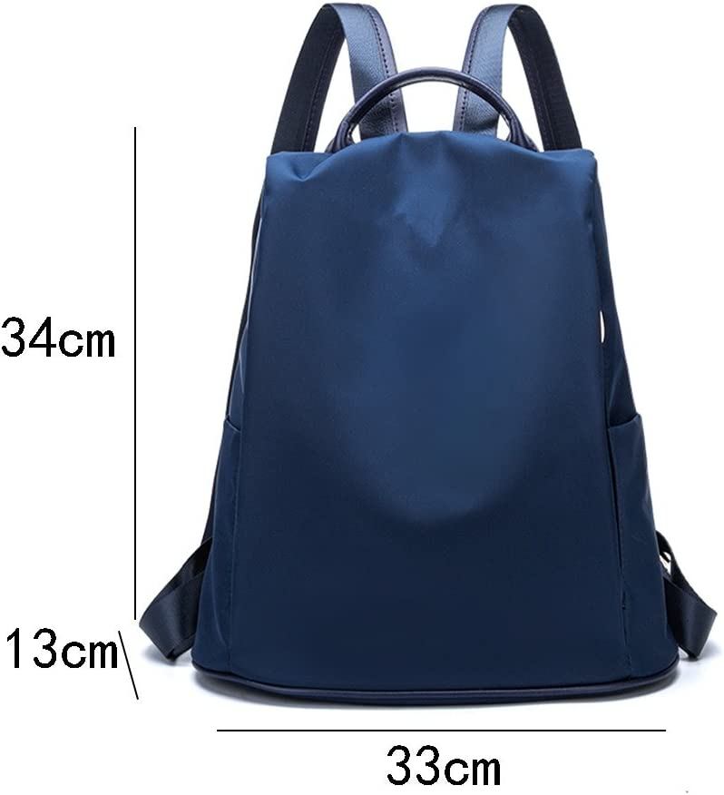 Color : Blue AAA Backpack female anti-theft bag Oxford fabric waterproof and wearable leisure bag