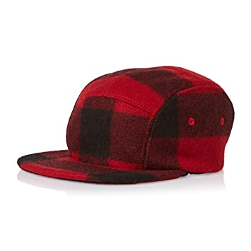 a11e14d3c993b7 Filson Wool Cap 5 Panel Cap - Red/Black Plaid: Amazon.co.uk: Sports &  Outdoors