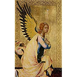 Oil Painting 'Simone Martini,The Angel Of The Annunciation,1333' Printing On High Quality Polyster Canvas , 24x39 Inch / 61x100 Cm ,the Best Wall Art Artwork And Home Artwork And Gifts Is This Replica Art DecorativePrints On Canvas