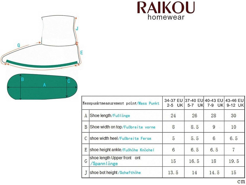 RAIKOU Hausschuhe f/ür Damen Herren aus Micro Fleece mit ABS und Rutschfester Sohle Gr/ö/ße,Super Flauschige H/üttenschuche