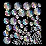 Iridescent Acrylic Jewels for Children to Decorate Cards Crafts and Collage (Pack of 200)