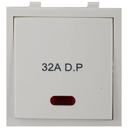 anchor roma 1-way switch dura with neon 21984, white, 32 amp 240v:  amazon in: home improvement