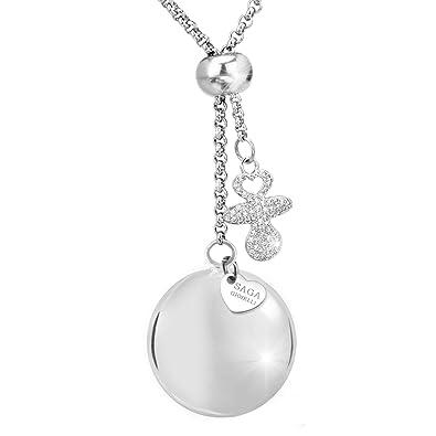 Saga joyas – Collar llamador de ángeles bola – Conjunto de longitud ajustable Charm chupete