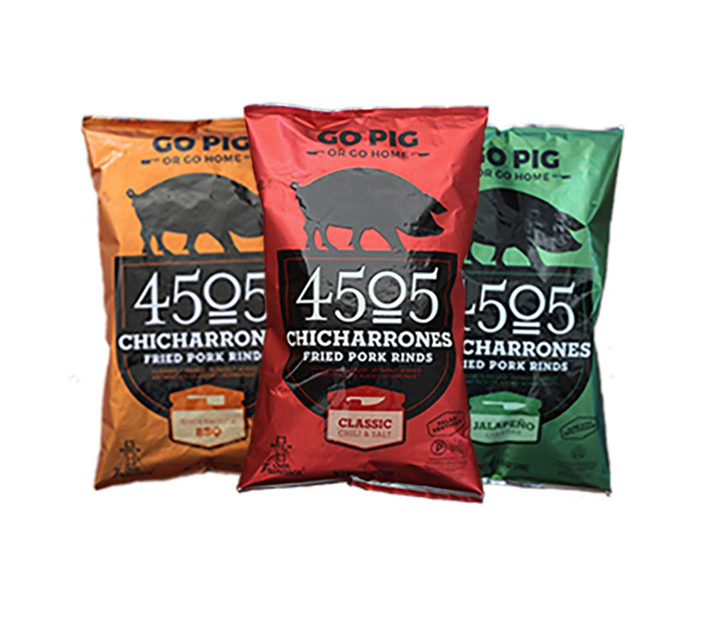 4505 Meats Chicharrones Fried Pork Rinds, Variety