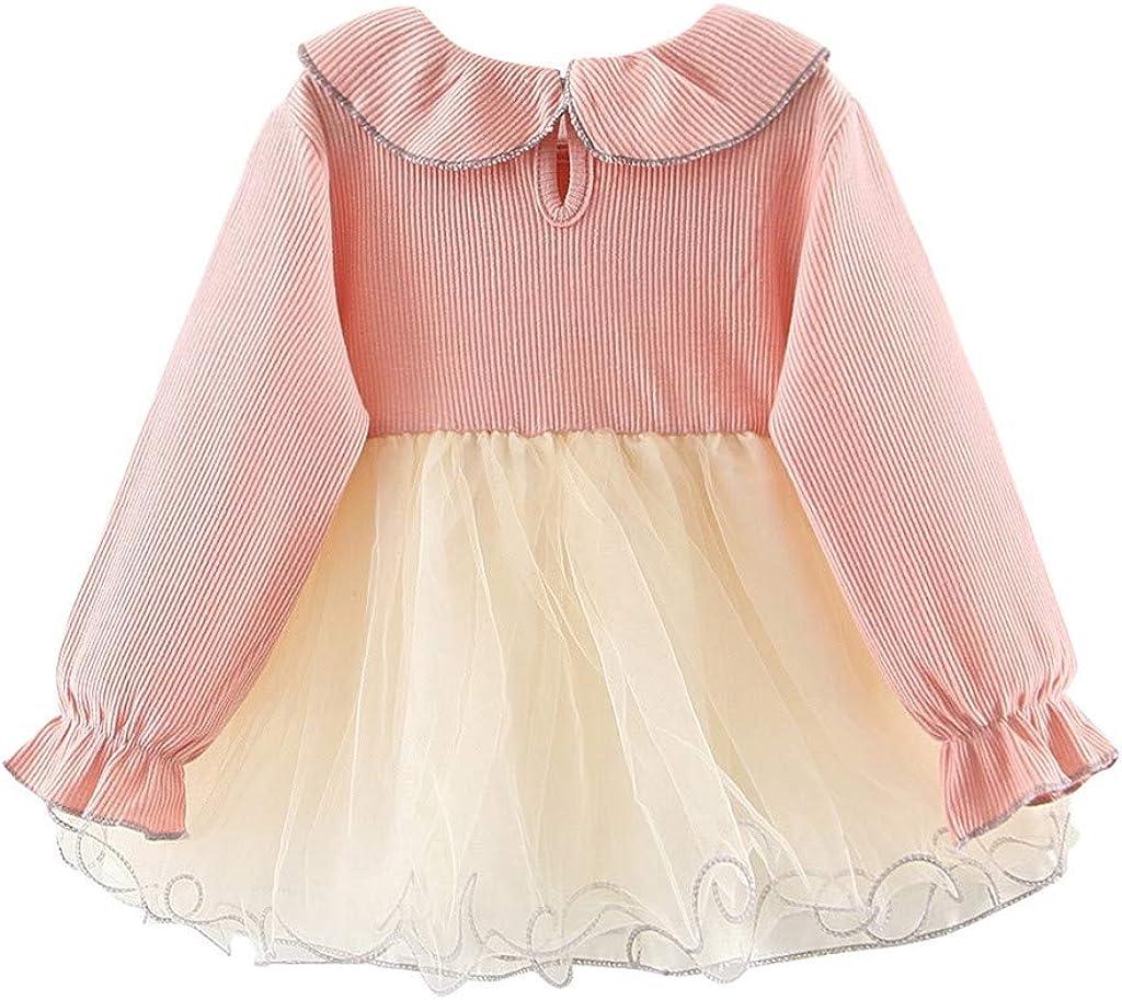 DaMohony Baby M/ädchen Kleid Kleinkind M/ädchen Langarm T/üll Kleid Prinzessin Party Geburtstag Hochzeit Kleid Rock
