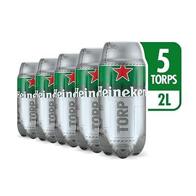Heineken Cerveza - Caja de 5 Torps x 2L