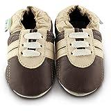 Snuggle Feet Chaussons Bébé en Cuir Doux - 0-6 Mois, 6-12 Mois, 12-18 Mois, 18-24 Mois, 2-3 Ans