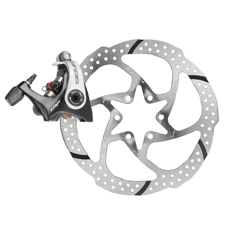 TRP SPYRE Flat Mount Road Alloy Mechancial Disc Brake Caliper Rotor Rear 140mm by TRP