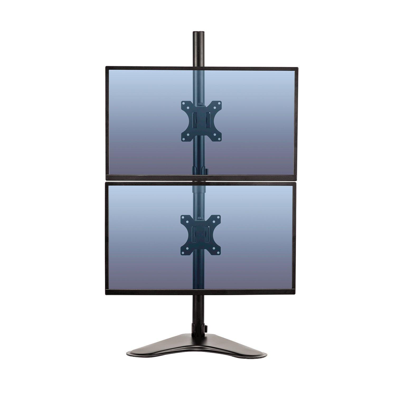 Fellowes 8044001 Bras porte-écran double vertical sur pied Professional Series jusqu'à 32