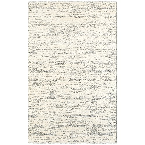 LR Resources SOFTS81168CMG80A0 Soft-Shag Area Rug LR81168-CMG80A0 Rectangle 8 x Ft Indoor, 8' x 10' , Cream/Gray