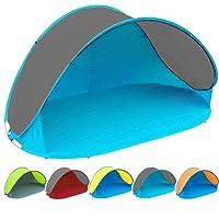 Profi-Gruppe Pop Up Strandmuschel mit Boden und UV-Schutz UV60 - Maße: 220 x 120 x 100 - cm in verschiedenen Farben
