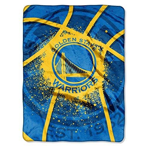 NBA Golden State Warriors Royal Plush Raschel Twin Throw Blanket 60