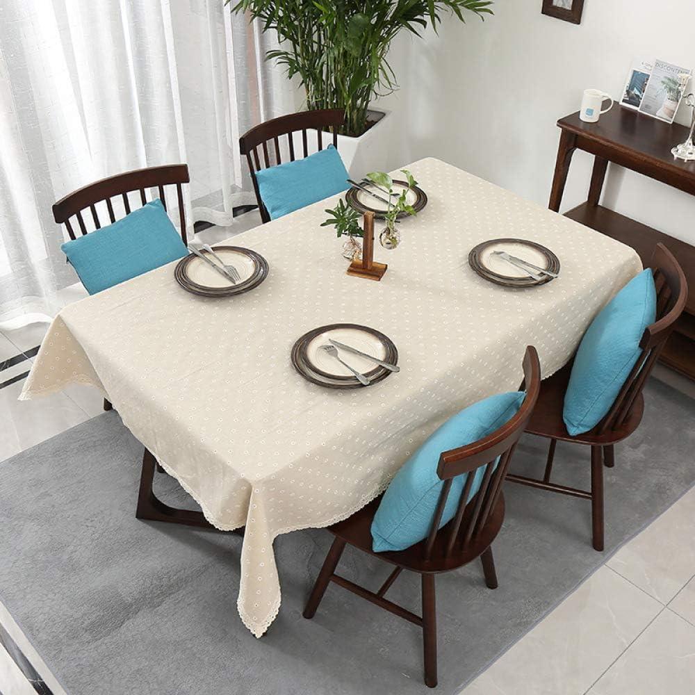 DJUX Daisy estilo rústico manteles Ins hogar algodón lino mantel antideslizante pequeño fresco mantel tela decoración algodón y lino