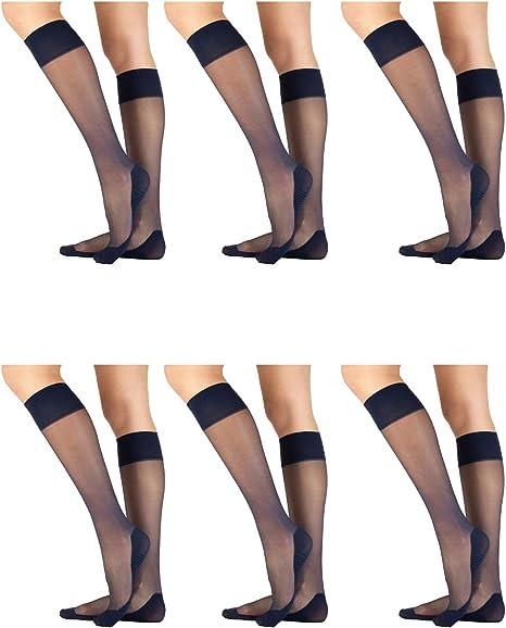 CALZITALY Chaussettes Montantes Opaques en Microfibre Fronc/ées Noir Fabriqu/é en Italie