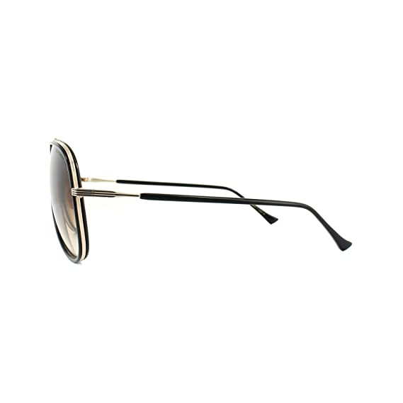 6d28e103b90a8 Dita CONDOR TWO 21010 E-BLK-GLD Black-12K Gold w  Dark Brown to Clear  Sunglasses at Amazon Men s Clothing store