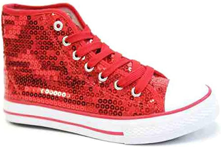 3c204de2b7 Party-Factory-Ladenburg Pailletten Schuhe Rot Glitzer 36-42 Damen ...