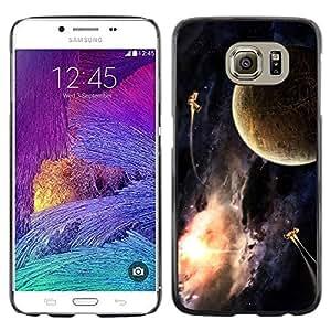 Bronce antiguo de la Tierra - Metal de aluminio y de plástico duro Caja del teléfono - Negro - Samsung Galaxy S6