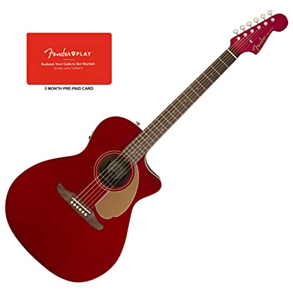 Amazon.com: Fender 0970743009 Newporter Player - Guitarra ...