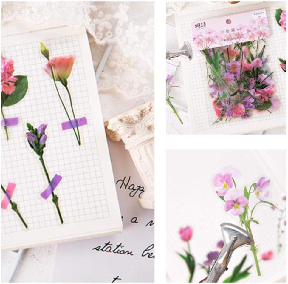 40 St/ück Vintage Blumen Pflanzen Sticker Tagebuch Dekorative Briefpapier Sticker Scrapbooking DIY Album Stick Label von Holo Cute