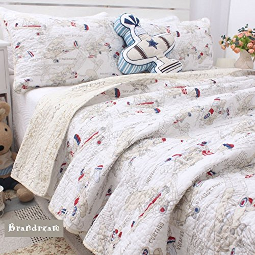 Brandream Boys Airplane Print Bedding Set