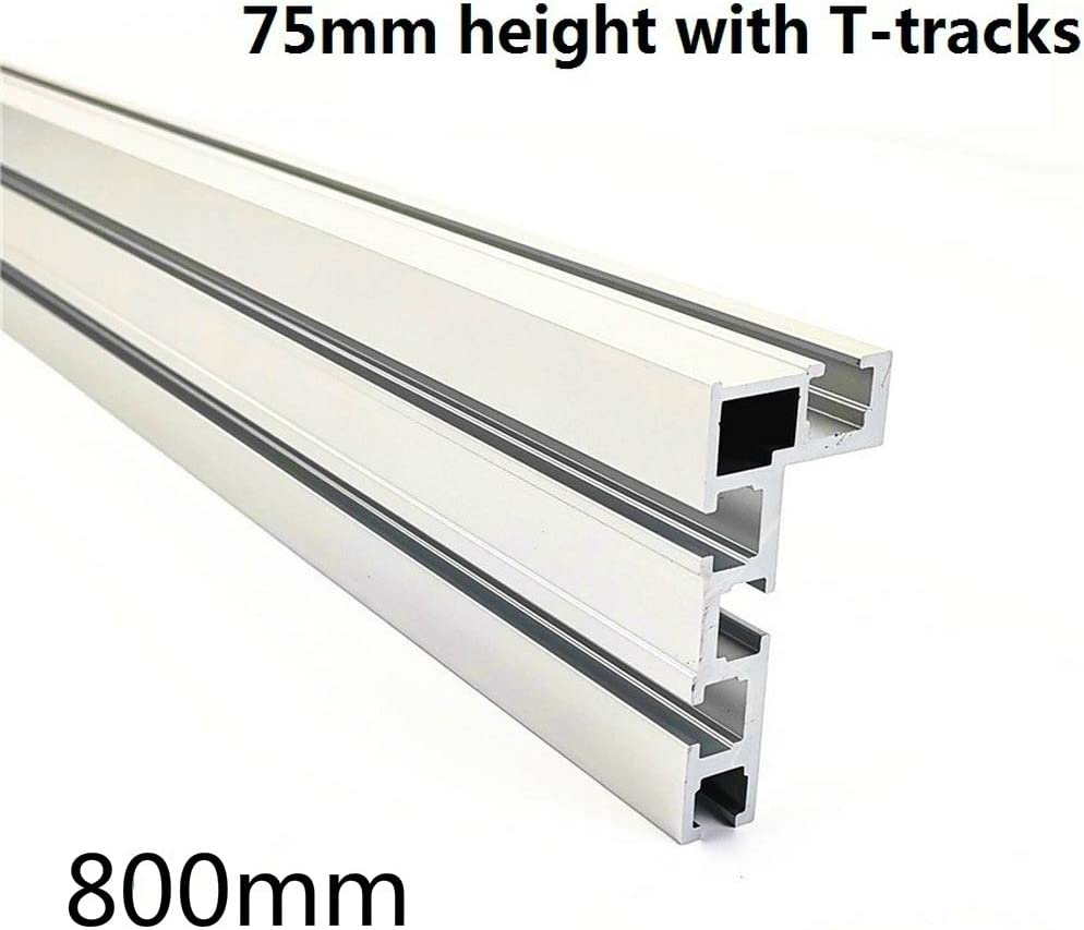 1000mm Aluminum T-Track Woodworking T-Slot Miter Track with Scale Miter Track Stop