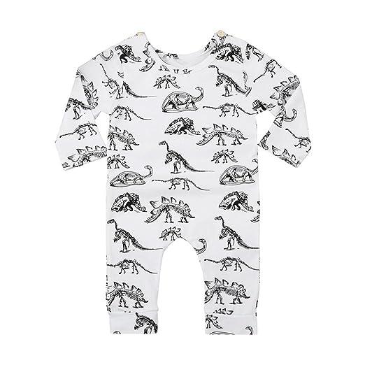 bbafd4cdcb KaiCran Baby Boy Gilrs Sleepers Cute Rompers Newborn Infant Baby Long Sleeve  Dinosaur Print Jumpsuit Romper