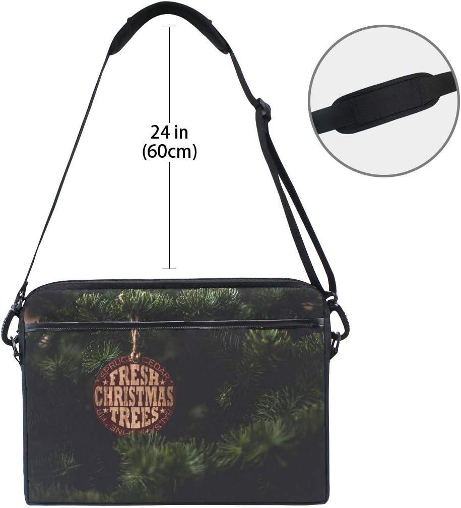 Spruce Label Inscription Laptop Shoulder Messenger Bag Case Sleeve for 14 Inch to 15.6 Inch with Adjustable Notebook Shoulder Strap