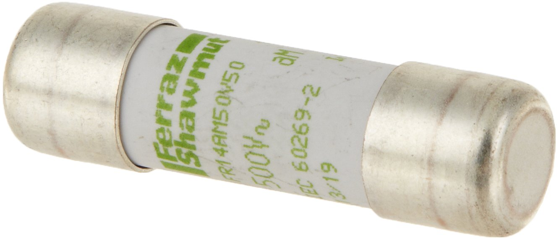 14mm Diameter x 51mm Length Mersen aM Ceramic Short Circuit Protection Cylindrical Fuse-Link 400VAC 120000kA 50 Ampere