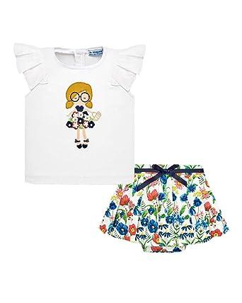 Mayoral Falda y Camiseta Niña, 24 Meses (92cm), Marino: Amazon.es ...