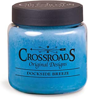 product image for Crossroads Dockside Scented Jar Candle, 16-Ounce Blue