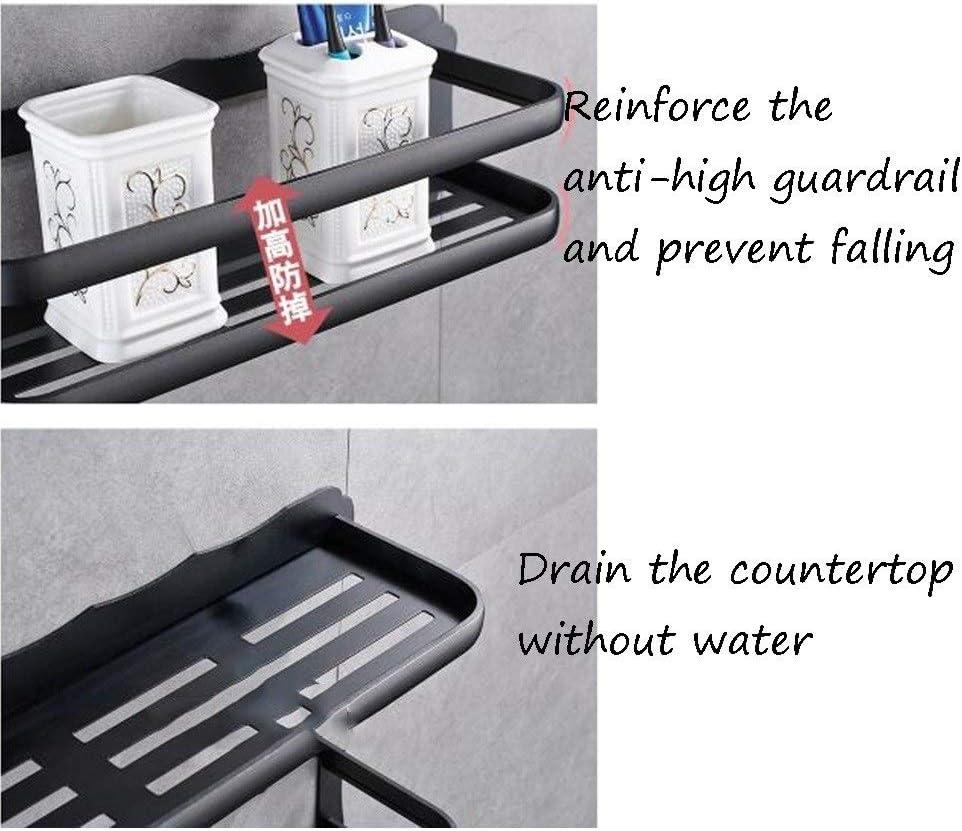 Baño estanterías de baño perforación Gratuito estantería de Aluminio del Espacio Lavabo Estantería de Pared Plataforma de perforación Libre, Soporte de Carga Muebles de baño: Amazon.es: Hogar