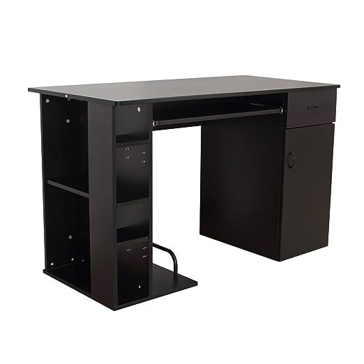 3 opinioni per Homcom- Scrivania Porta PC Computer Scrivania da Ufficio con Ripiano Tastiera