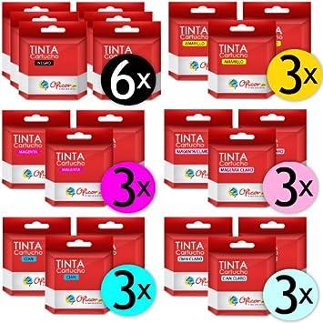 Pack de 21 Cartuchos de Tinta Oficor T0481 / T0482 / T0483 / T0484 / T0485 / T0486 genéricos compatibles con impresoras Epson Stylus Photo R200 R220 R300 R320 R340 RX500 RX600 RX620 RX639: Amazon.es: Electrónica