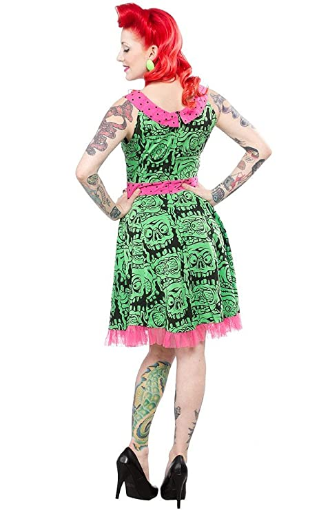 885a2152268 Amazon.com  Sourpuss Green Melting Monsters Dress from Clothing (Small)   Clothing