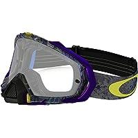 Oakley Mayhem Pro MX Skull Pipe Adult Dirt Motocross Motorcycle Goggles Eyewear - Blue/Clear/One Size Fits All