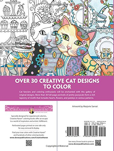 Amazon Creative Haven Cats Coloring Book Adult 9780486789644 Marjorie Sarnat Books