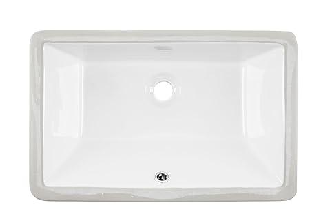 Peachy 1181Cbw 18 In X 11 In White Rectangular Porcelain Undermount Bathroom Sink Download Free Architecture Designs Embacsunscenecom