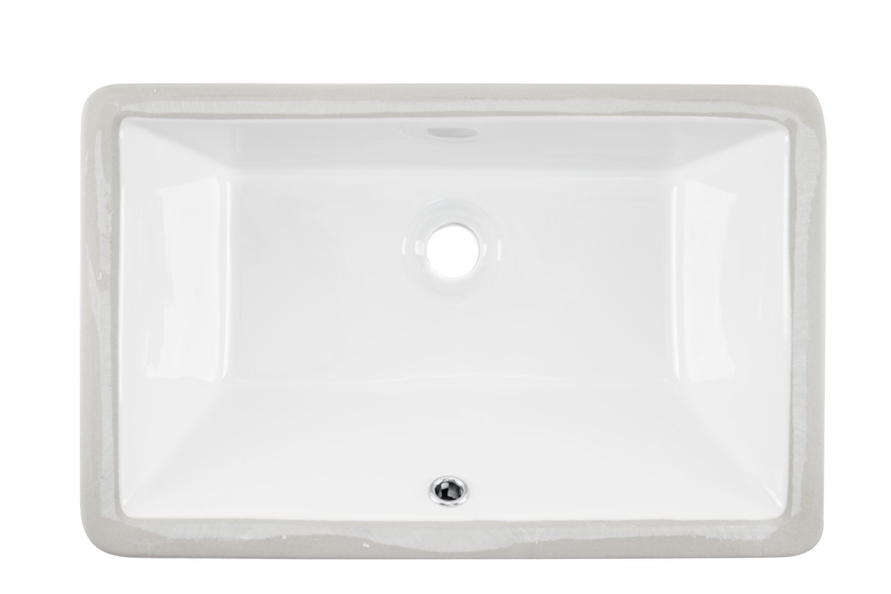 1181CBW 18''x11'' White Rectangular Porcelain Undermount Bathroom Sink