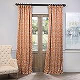 """Best Home Back Tab Curtains - BOCH-KC104A-108 Blackout Curtain, Nouveau Rust, 50"""" x 108"""" Review"""